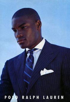 Tyson Beckford... in classic RL blue suit