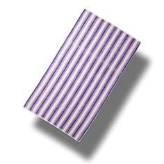 "Custom & Luxurious {40"" x 70"" Inch} 1 Single Large & Thin Soft Summer Beach & Bath Towel Made of Quick-Dry Cotton w/ Simple Espalma Ripple Stripes Striped Style [Purple & White]"