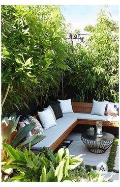 Backyard Seating, Small Backyard Landscaping, Garden Seating, Small Patio, Outdoor Seating, Outdoor Spaces, Outdoor Living, Outdoor Decor, Landscaping Ideas