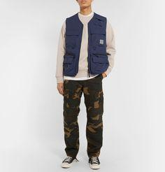 Carhartt Chase Logo-embroidered Fleece-back Cotton-blend Jersey Sweatshirt In Neutrals Carhartt Wip, Black Singles, Field Jacket, Hoodies, Sweatshirts, Denim Shirt, Sportswear, Winter Jackets, Men's Style