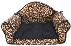 Leopard Print PET BED Pillow Cushion - Sofa/couch Design - Dog, Cat, Puppy - http://petproduct.reviewsbrand.com/leopard-print-pet-bed-pillow-cushion-sofacouch-design-dog-cat-puppy.html