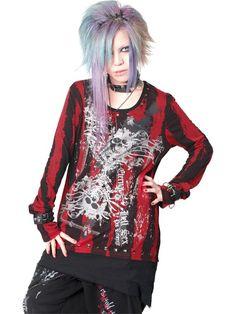 CDJapan : HELL STUDS ASYMMETRY PUNK Cutsew (M) SA68270-10103 SEX POT ReVeNGE APPAREL / See more at http://www.cdjapan.co.jp/apparel/ #Japanese #PunkFashion