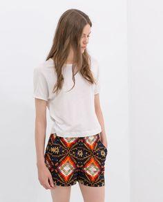 ZARA - Aztek print shorts