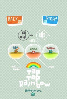 app work-TAP TAP RAINBOW by bibo X, via Behance