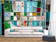 Fototapete inspiriert von Glas - ideal für Boheme-Stil! #boho #boheme #fototapete #fototapeten  #wanddekoration #wanddeko #homedecor #home
