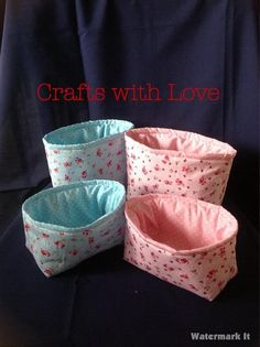 Fabric baskets perfect to store all those little bits n bobs in.
