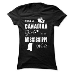 CANADIAN GIRL IN MISSISSIPPI - #cowl neck hoodie #cool sweater. BUY TODAY AND SAVE => https://www.sunfrog.com/States/CANADIAN-GIRL-IN-MISSISSIPPI-Black-Ladies.html?68278