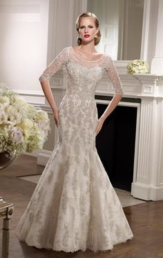 lace and beaded mermaid dresses