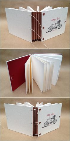 Personalized Bicycle Wedding Guest Book or Photo by UsefulBooks, $65.00