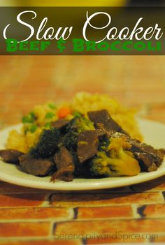 Slow Cooker Beef and Broccoli Recipe ~ http://serendipityandspice.com