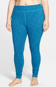 Zella 'Live In - Sonic' Space Dye Leggings (Plus Size) available at #Nordstrom