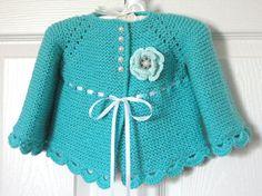 Knitting baby cardigan garter stitch 31 new Ideas Baby Cardigan, Cardigan Bebe, Baby Girl Cardigans, Baby Girl Jackets, Baby Sweaters, Baby Knitting Patterns, Pattern Baby, Baby Patterns, Crochet Jacket