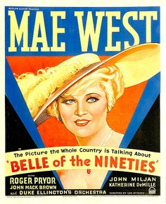 Belle Of The Nineties, Mae West, 1934 Canvas Print / Canvas Art by Everett
