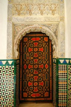 carved doorway, Spain