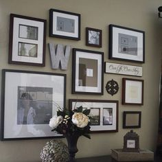 frame collage wall | Entryway, stage left!