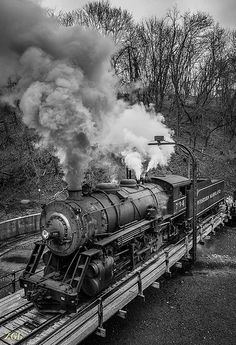 Locomotive 734 on the Turntable | Flickr - Photo Sharing!