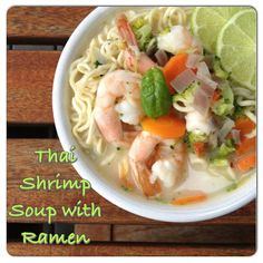 Thai Shrimp Soup with Ramen Noodles  #Ninja Cooking System