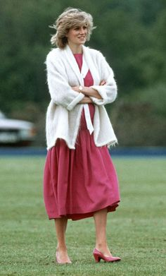 June 7, 1984: Princess Diana at the Smith's Lawn polo grounds in Windsor.