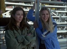 lindsay weir & kim kelly (in their signature jackets) freaks and geeks