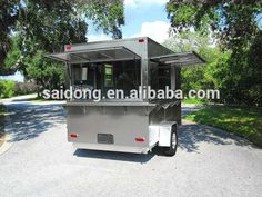 Look what I found Via Alibaba.com App: - Outdoor Mobile coffee cart /food truck/food concession trailer with big wheels