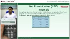 From this video you can learn what is NPV and how do to calculate Net Present Value Using both formula and calculator (Texas Instruments BA II Plus ). For more Such Example visit http://goo.gl/NhQyjC  Leave a comment below for any queries.....