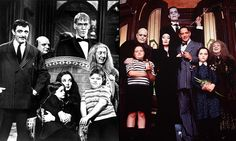 Addams Family cast on TV (1964-66)and film (1991)
