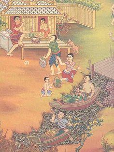 Thai Pattern, Thai Design, Thailand Art, Thai Tattoo, Thai Art, Thai Style, Artist Painting, Traditional Art, Love Art