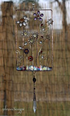RETRO BLOOM.... Retro Window Suncatcher by IntrinsicDesignsArt
