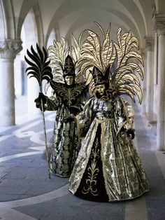Photographic Print: Poster of Carnival Costumes, Venice by Simon Harris : 24x18in
