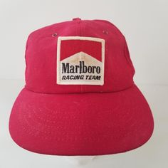 Vintage Marlboro Racing Team Patch Hat Cap Snapback Made in USA Distressed  by TraSheeWomen on Etsy 916b7fb5ac4
