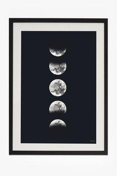 large framed eclipse print 50x70