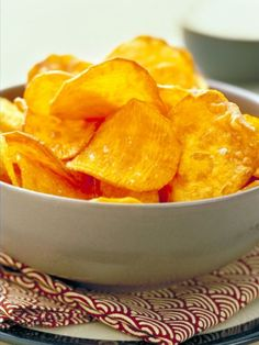 Baked Sweet Potato Chips (2 Points) #Recipe #WeightWatchers #WW