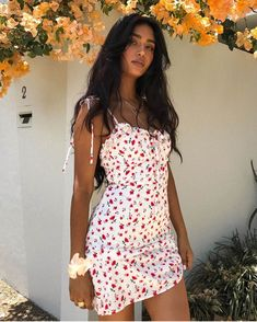 Floral Print Dress Shoulder Straps Slim Fit Mini Sweet Frill Dress - Floral Print Dress Shoulder Straps Slim Fit Mini Sweet Frill Dress – Hplify Source by sherrychimes - Spring Outfits, Trendy Outfits, Cute Outfits, Summer Dress Outfits, Pretty Summer Dresses, Insta Outfits, Spring Dresses, Summer Mini Dresses, Classy Outfits