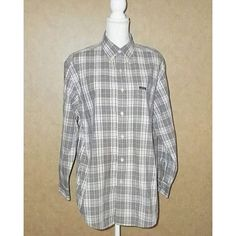"""Chaps By Ralph Lauren Plaid Long Sleeve Shirt Men's Size M   Chaps By Ralph Lauren Plaid Long Sleeve Button Up Shirt Men's Size M  Excellent Pre-Owned Condition  60% Cotton  40% Polyester  •Size M  Aprox. Measurements Taken Flat  •Shoulders: 19.5""""  Chest: 22 """" •Length: 32""""    To See My Newest Listing or See More Pictures Follow Me On FaceBook https://www.facebook.com/Sandragscloset/"""