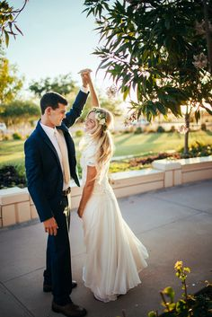 Perfect wedding photo of the bride and groom! Wedding photography | outdoor wedding | bride and groom | dancing | twirl photo