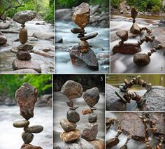 Amazing stone balance so serene and beautiful