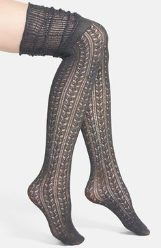 Free shipping and returns on Free People 'Bowery' Over The Knee Socks at Nordstrom.com. Lacy pointelle-stitch socks topped by slouchy thigh-high ribbing offer a pretty layer of warmth to cold-weather outfits.