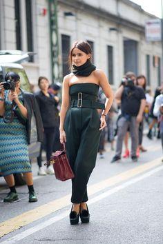 Miroslava Duma. Milan Fashion Week October 2013.