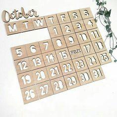 Orginele kalender #hout #magneet  #lifestyle @zivi