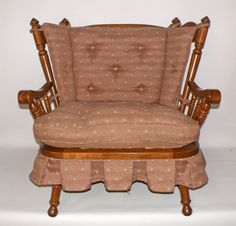 Vintage Tell City Andover Rock Maple Rocking Settee/Loveseat #TellCity #Country