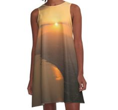 Secret Sunset A-Line Dress by Scar Design #sunsetdress #sunset #summervacations #beachdress #beach #summerfashion #giftsforher #gifts #giftsforteens #summergifts #womensfashion #hipster #colorful #style #swag #sunset #sunsetdress #dress #summerdress #summ