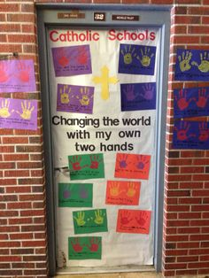 Catholic Schools Week door