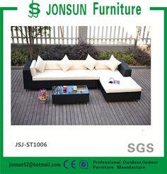 Muebles de mimbre al aire libre muebles de ratán sofá de la esquina Lazy Susan