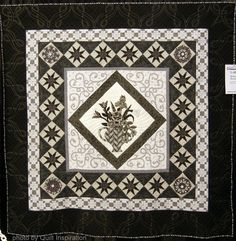 Serenity Squared , 69 x 69, by Marla Whalen (Arlington, Tennessee), 2014 AQS Quilt Week.  Photo by Quilt Inspiration.