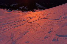 sunrise alpenglow on mt. hood.