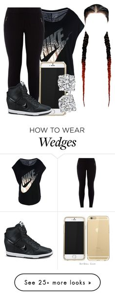 """""""Laid Back"""" by qeens on Polyvore featuring NIKE"""