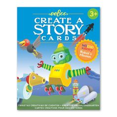 Eeboo Children Create a Story & Flash Cards - Robot's Mission