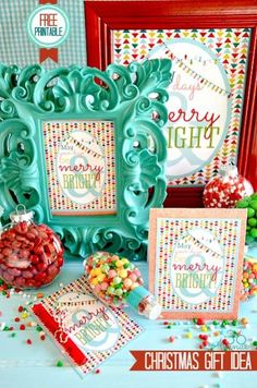 Christmas Printables - Framed Christmas Art - Christmas in a Mobile Home Affordable Decor Ideas