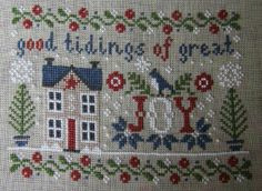 love this pretty festive stitch, worked by Claudine