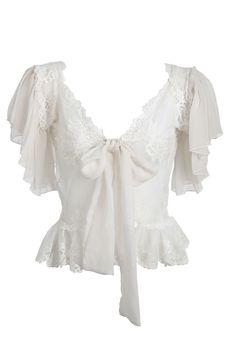 Sally Jones - Bridal bed jacket